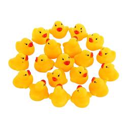 100pcs/lot Wholesale Mini Rubber Bath Duck