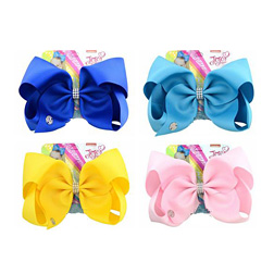 Hot 8 Inch Jojo Siwa Hair Bow Solid Color