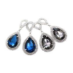 2017 Fashion jewelry crystal super flash silver electroplating water drop Rhinestone big drop Earrings for women #E014