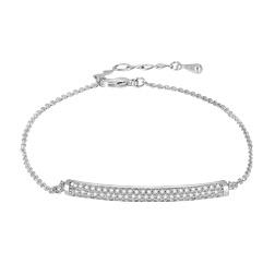 LUOTEEMI New Tiny Cubic Zirconia Hand Love Bracelet CZ Bangles Korean Style High Quality Jewelry for women Wedding Party