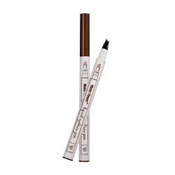 Music Flower Liquid Eyebrow Pen Music Flower Eyebrow Enhancer 3 Colors Four Head Eyebrow Enhancer Waterproof Free DHL 96