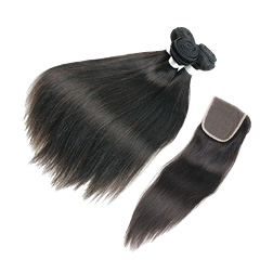 Brazilian Virgin Hair Body Wave Straight Natural Color 3 Bundles with Lace Closure Unprocessed Human Hair Free Middle Three Part Closure