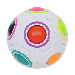 Magic Rainbow Ball Magic Cube Speed Football Fun Creative Spherical Puzzles Kids Educational Learning Toys Stress Reliever