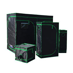 Reflective Mylar Grow Tent Green plant room with Obeservation Window and Floor Tray for Indoor Flowers Plant Growing