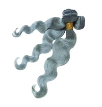 Silver Grey 7A Remy Hair Weaves