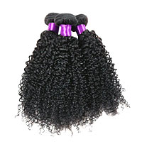 10A Kinky Curly Wefts w/Closure