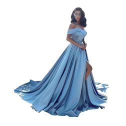 Sexy Women's Sleeveless Mermaid Satin V-Neck Long Evening Dress with Pockets Plus Robe De Soiree Floor Length Prom Gown Vestido De Festa