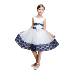 Top Quality Knee Length Baby Girl Dress Lace Dress Kid's Party 2019 Child Birthday Gown Communion Dress