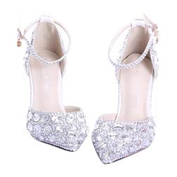newest crystal rhinestone Shiny high heel female lady's Women Bridal Evening Prom Party club Bar Wedding Bridesmaid shoes