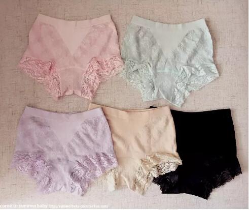 female waist lace Jacquard antibacterial underwear