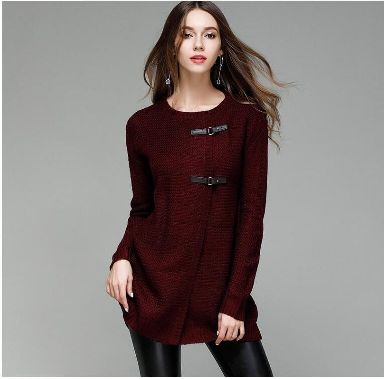 Winter Women Sweater Cardigan Long Coat