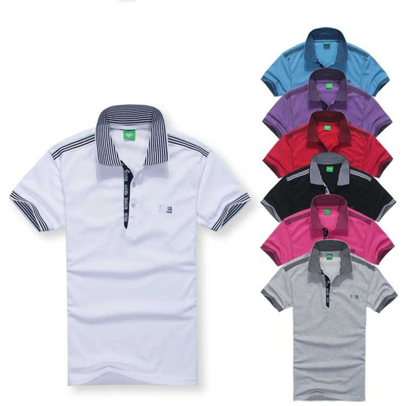 Short Sleeve Striped Fashion Polo