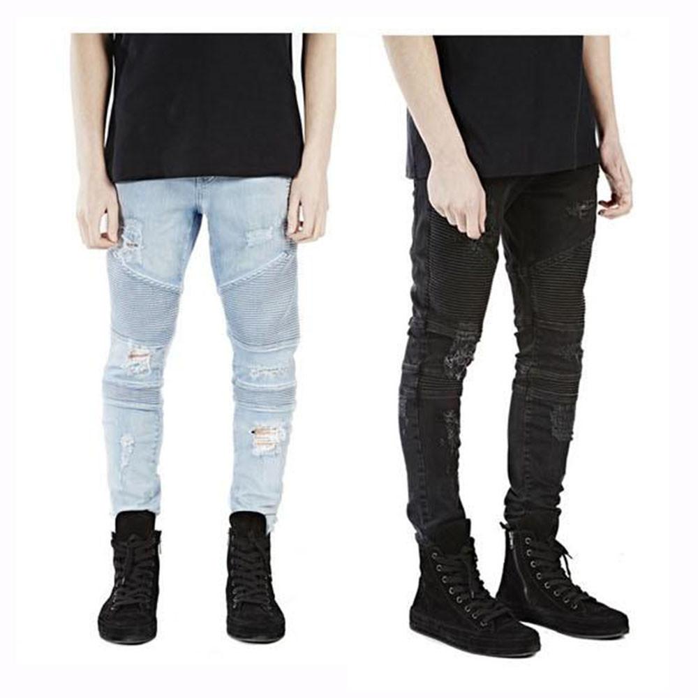 destroyed mens slim jeans