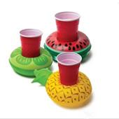Porte-gobelet en plastique gonflable en PVC 7 styles Donut Flamingo Sandale en ananas en forme de citron Flotté en flan flottant Jouets en piscine