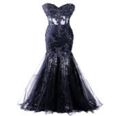 Appliques Beaded Vestido Longo Robes de soirée sirène Robes de soirée de célébrité Tulle de haute qualité Vestido De Festa