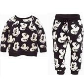 Spring Minnie Mouse Bébés filles garçons Ensembles manches longues Vêtements Mickey Enfants Cartoon T Shirts + Pantalons Pantalons 2PC Costume Survêtement