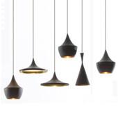 VALLKIN® Beat Light High, Fat, Wide (3 lampes) Éclairage, Bar Romm Bedroom AC110-240V Lampes suspendues en aluminium, EMS gratuit
