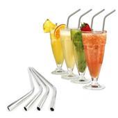 Pains en acier inoxydable Métal réutilisable résistant 10.5inch Extra Long Bend pots à boire pour 20 30OZ Yeti, Tervis Tumbler Coupes