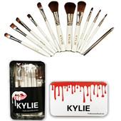 Kylie Jenner Brosse à maquillage pour maquillage 12 pcs set Pinceau à ombre à paupières Professionnel Poudre de fondation Outils de beauté Pinceaux avec boîte