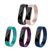 ID115 Smart Bracelet Fitness Tracker Step Counter Activity Monitor Band Будильник Будильник Вибрация Браслет для телефона iPhone