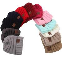 Bébé Chapeaux CC À La Mode Beanie Crochet Mode Bonnets Extérieur Chapeau Hiver Nouveau-Né Beanie Enfants Laine Tricoté Chapeaux Chaud Beanie KKA2143