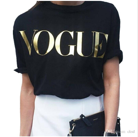Golden VOGUE T-Shirts for women