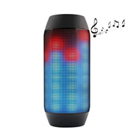 Free shipping Mini Wireless Bluetooth Pulse Speaker Support NFC 360 LED lights U-disck and TF card portable Speaker