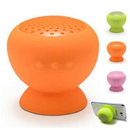 Wireless Bluetooth Mini Speaker Mushroom Waterproof Silicon Suction Cup Handfree Holder for Iphone 4 4s 5 5c 5s Itouch Ipad mini Air 2 3 4