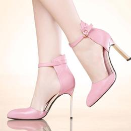Komanic Leder-Frauen-Kleid-Schuhe