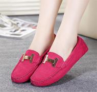 Echtes Leder-Frauen flache Schuhe