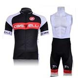 Castelli Cycling Clothing Red and Black Cycling Shorts at Wholesale Price