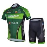 Europcar Cycling Wear New Fashion Green Europcar Team Cycling Jerseys Wholesale