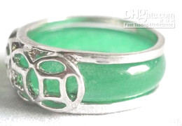 Wholesale Cheap Gemstone Engagement Rings - Wholesale cheap Charming jade gemstone silver ring jewelry