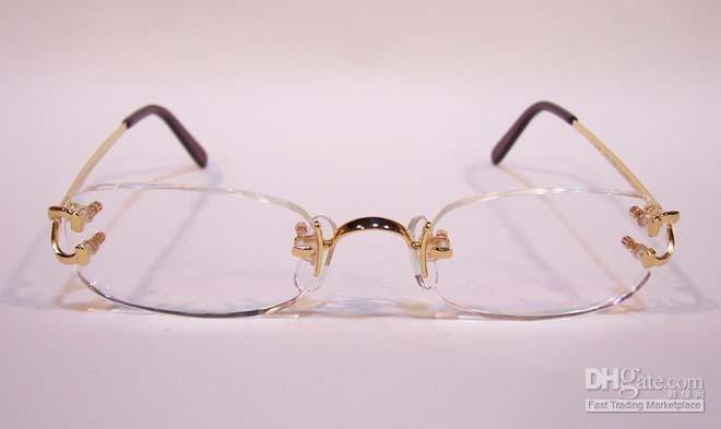 ed81b91ac6 Cartier Glasses Eyeglasses Frame Classic Rimless Gold Polarized Sunglasses  Sunglasses For Men From Wuyeyangguang