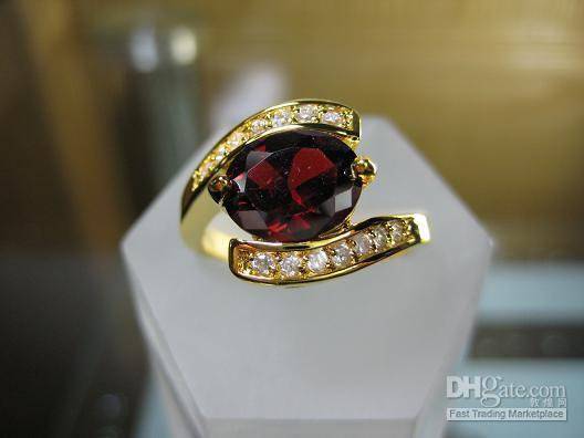 Wholesale Yellow Gold Ruby Ring - gorgeous jewelry womens 1.56ct Ruby gemstone New 14KT Yellow Gold filled Ring rings
