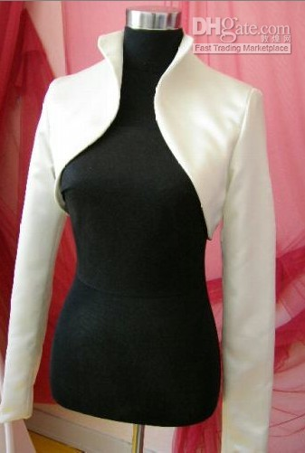 Wholesale Small Bolero - Romantic white or ivory wedding Small blouse