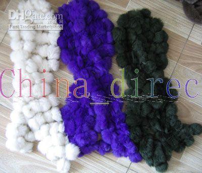rabbit fur scarf fur scarves wrap stole shawl wraps 13pcs/lot