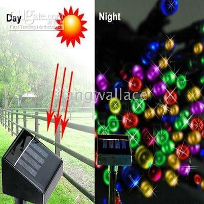 5 pcs Solar Powered Christmas String Lights 100 PCS Multi-Color LED (CE standar) on Sale