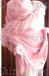 Wholesale wrap poncho wool - 100% Pashmina Wool Sheep Fur Shawl Wrap ponchos wraps shawls 4Ply 5pc lot #A1001