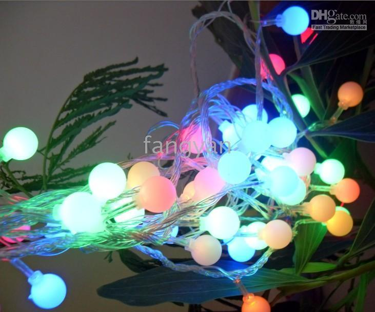 2018 solar netting 5 pcs christmas fashion led lights ball light string light colorful outdoor indoor