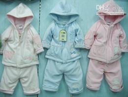 Wholesale Toddler Casual Suit Jacket - Cute Baby toddler Winter suit Jacket suits coat Pant pants Jumper hoodies 12sets lot