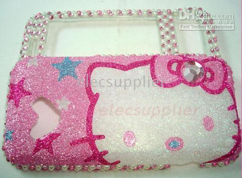 Bling Hello Kitty case For google G1 Android Tmobile Phone pink