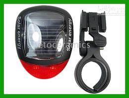 Wholesale Led Bike Rear Light Solar - New Solar Power Bike Bicycle LED Tail Rear Light Lamp lights lamps Lots100