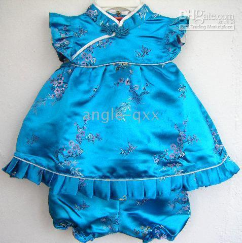 Wholesale Suit Qipao - girls' sets girls' suits baby dresses girls' dresses QIPAO skirt 4 colors baby shorts baby tops