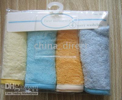 Infant Baby Washcloth Australia - Baby Wash cloth infant washcloths 4pcs each bag,20bags lot