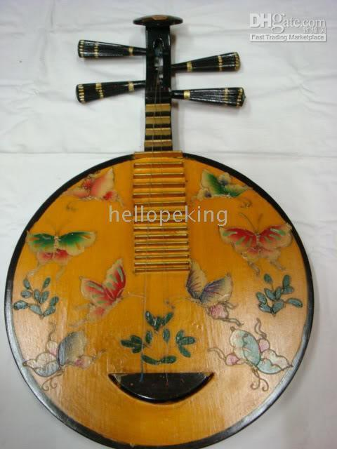 Wholesale musical butterfly for sale - Group buy Rare Chinese Wooden Musical Instrument Butterfly lute