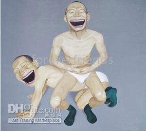 malerei elegant großhandel-y20 Elegantes abstraktes Kunstölgemälde durch Künstler Yue-Minjun