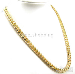 Wholesale Gold Necklaces 18kt - New 09 luxury Men's boy 18KT yellow gold filled necklace perfect chain charming chain