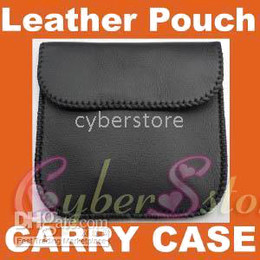 Wholesale Earphone Soft Case - Universal Soft Leather Pouch Carry Case Bag Cover Soft pocket Black for headphone earphone USB cable money