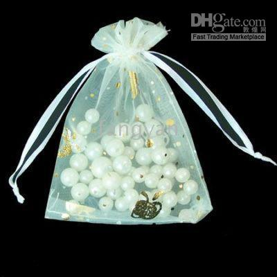 Easter Gift Bags Australia - 2015 Promotion Sale Jewelry Pouches,bags Easter Tiaras Hair Jewelry Hairpins 1000 Pcs Gorgeous Organza Gift Bags 9x12cm Ivory   Cream : D13